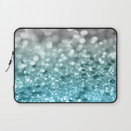 Aqua Gray Lady Glitter #1 #shiny #decor #art #society6 Laptop Sleeve