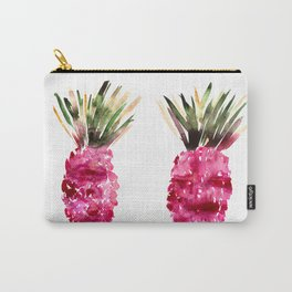 Twin pink pineapples watercolor Carry-All Pouch