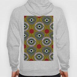 All Seeing Eye Pattern in Olive Hoody