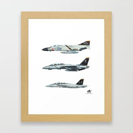 JOLLY ROGERS Trio Framed Art Print