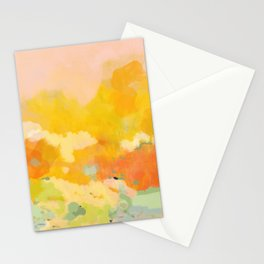 abstract spring sun Stationery Cards
