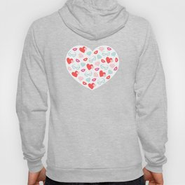 Valentines Day Heart #8 - Glasses, Diamonds, Kisses Hoody
