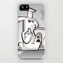 Smoking Bad Bunny iPhone Case