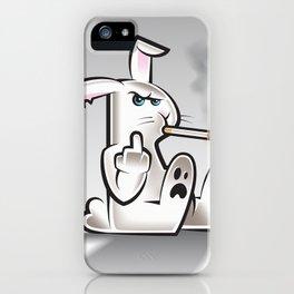 Smoking Bad Bunny iPhone Case