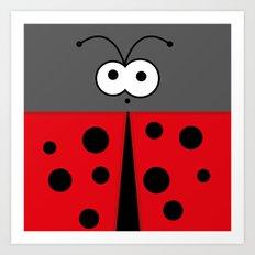 Minimal Ladybird Art Print
