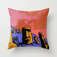easter Throw Pillows featuring Easter by dvhstudios