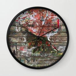 Hidden Nature (Profile of Woman) Wall Clock