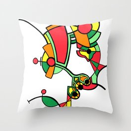 Print #10 Throw Pillow