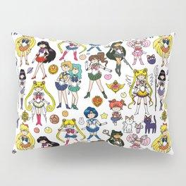 Kawaii Sailor Senshi Doodle Pillow Sham