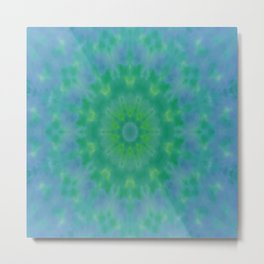 Pastel Geometric flower design Metal Print