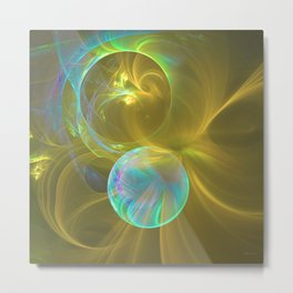 Eclipsing Spheres Metal Print
