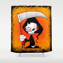 Grim Reaper Creepy Cartoon Character Shower Curtain