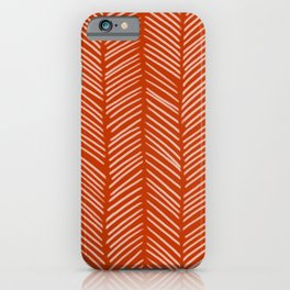 Rust Herringbone iPhone Case