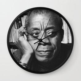 Baldwin and Books <3 Wall Clock