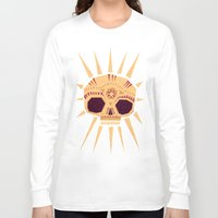 sugar skull Long Sleeve T-shirts featuring sugar skull by Yetiland