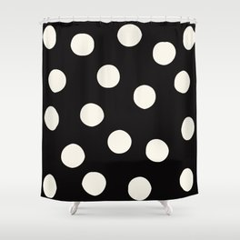 Black & White Random Polka Dots Shower Curtain