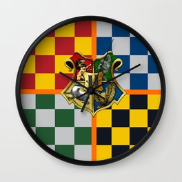 Hogwarts Crest Stripes Wall Clock