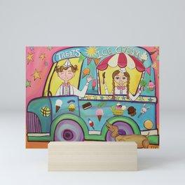 Here Comes The Ice Cream Truck Mini Art Print