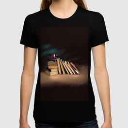 Coffee Books// Art Print T-shirt