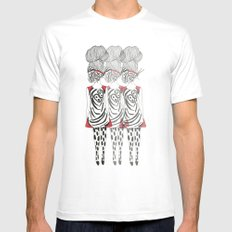 Butterfly Girl MEDIUM White Mens Fitted Tee