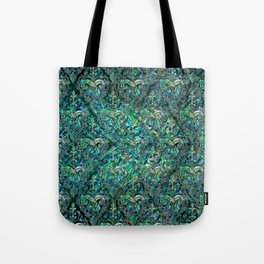 Persian Oriental pattern abalone and silver Tote Bag