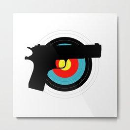 Pistol Target Metal Print