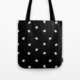 Gardenia pattern black Tote Bag
