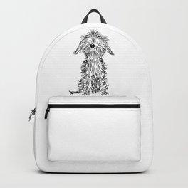Dachshund dog drawing Backpack