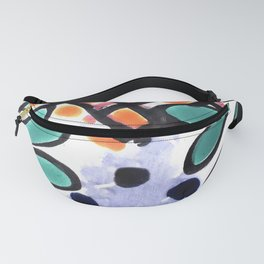 Colorful Talavera, Green Accent, Mexican Tile Design Fanny Pack