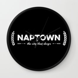 Naptown | the city that sleeps | Indianapolis Wall Clock