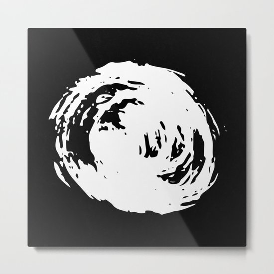 Whorl Black and White Metal Print