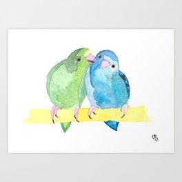 Watercolour Linnie Love Art Print