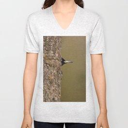 Black woodpecker Unisex V-Neck