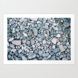 Rocks in Santorini Art Print