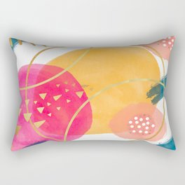 Geometric abstract art Rectangular Pillow