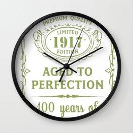 Green-Vintage-Limited-1917-Edition---100th-Birthday-Gift---Sao-chép Wall Clock