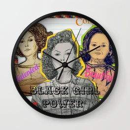 (Black Girl Power - Hidden Figures) - yks by ofs珊 Wall Clock
