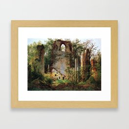 Caspar David Friedrich Monastery Ruins Eldena Framed Art Print