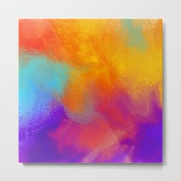 Summer Storm Abstract Painting Metal Print