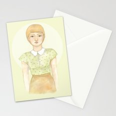 Green blouse Stationery Cards
