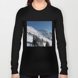 Mountains color palette of white-black-blue Long Sleeve T-shirt