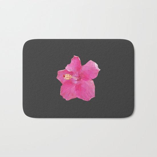 Pink Hawaiian hibiscus Bath Mat