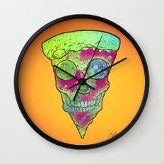 Skull Slice Neon Wall Clock
