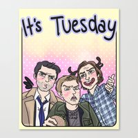 enerjax Canvas Prints featuring It's Tuesday by enerjax