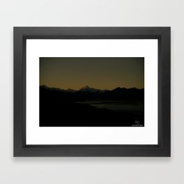 Mount Cook in the SunSet Framed Art Print