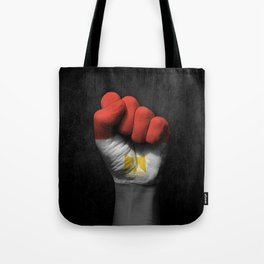 Egyptian Flag on a Raised Clenched Fist Tote Bag