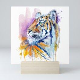 Young Tiger Watercolor Portrait Mini Art Print