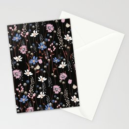 Darkly Beautiful Wildflower Floral Pattern Stationery Cards