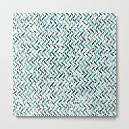 Natural Blue Pattern Metal Print