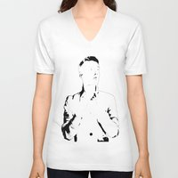 melissa smith V-neck T-shirts featuring Mr. Smith by Stanislav X Smith